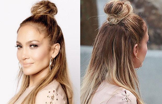 a nova moda do meio coque de cabelo wepick